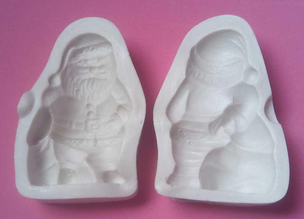 Inyector papa noel navidad molde porcelana fria dos tapas cuerpo