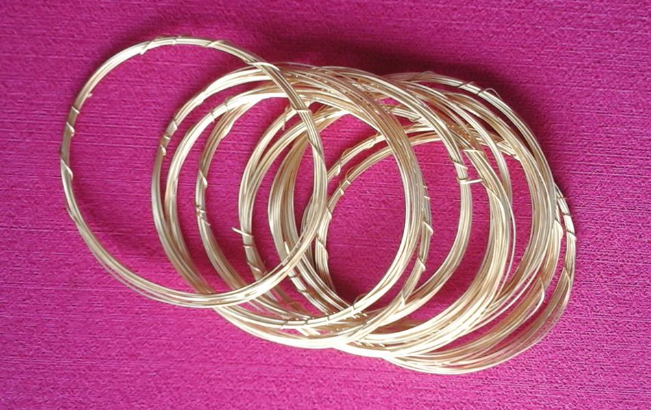 Alambre dorado moldeable herramientas para floristeria y manualidades