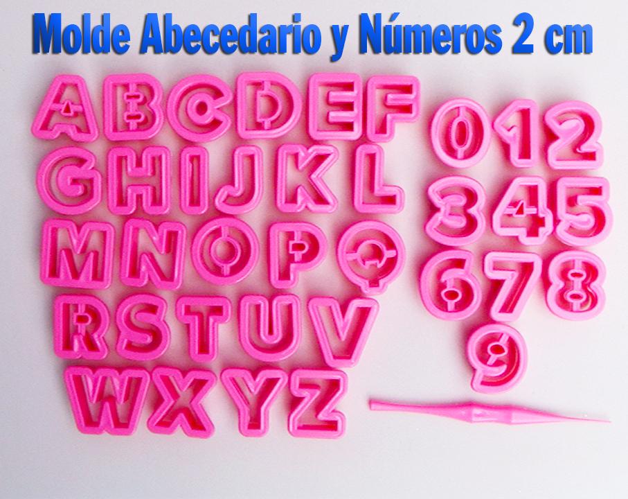 Letras alfabeto Abecedario y números 2 para decoración de tortas