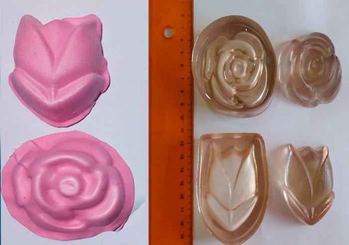 Modelador de Foamy Rosas y tulipán Crea floristería En Fomi y pasta