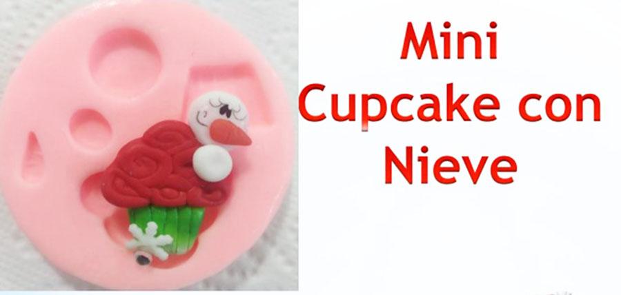 Molde en Silicona minicupcake con nieve muffins navidad para fon