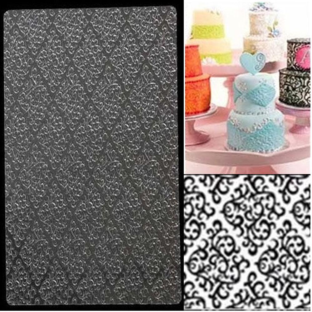 Molde Plantilla Textura Arabescos Persas Vintage para tortas y pastel