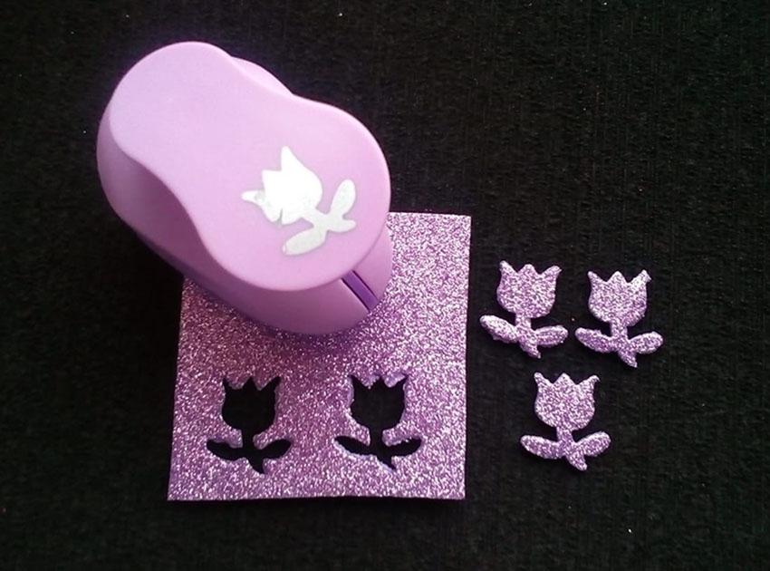 Perforadora goma eva Troquel Flor Tulipán 2.5 cm para manualidades