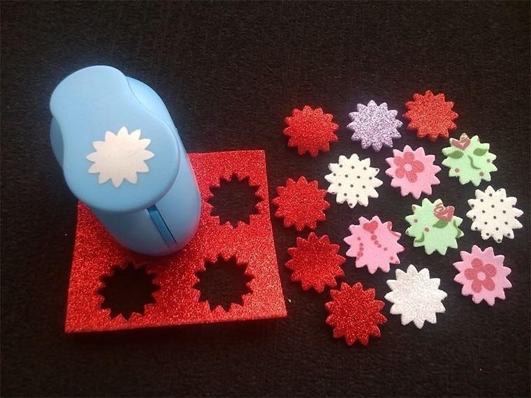 Troquel para Papel Foami Perforadora forma de Sol o Flores
