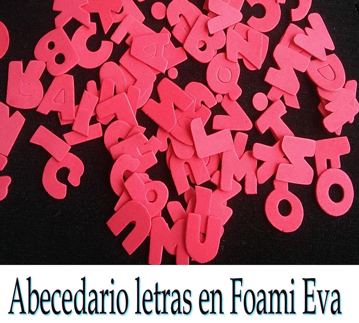 Letras abecedario letras en goma eva alfabeto fomy para manualidades