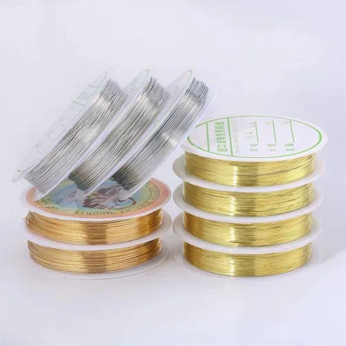 Alambre dorado plata bronce para bisutería y alambrismo 1pz