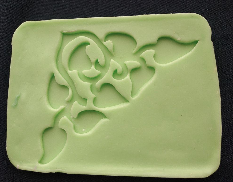 Molde En Silicona N16 Arabesco Esquinero decorativos con pasta fría