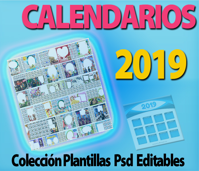Plantillas Psd Calendarios 2019 Almanaque Templates Editables