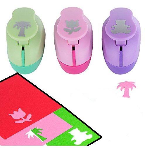 Set Perforadoras Palmera Tulipán y Oso para Manualidades Foami papel