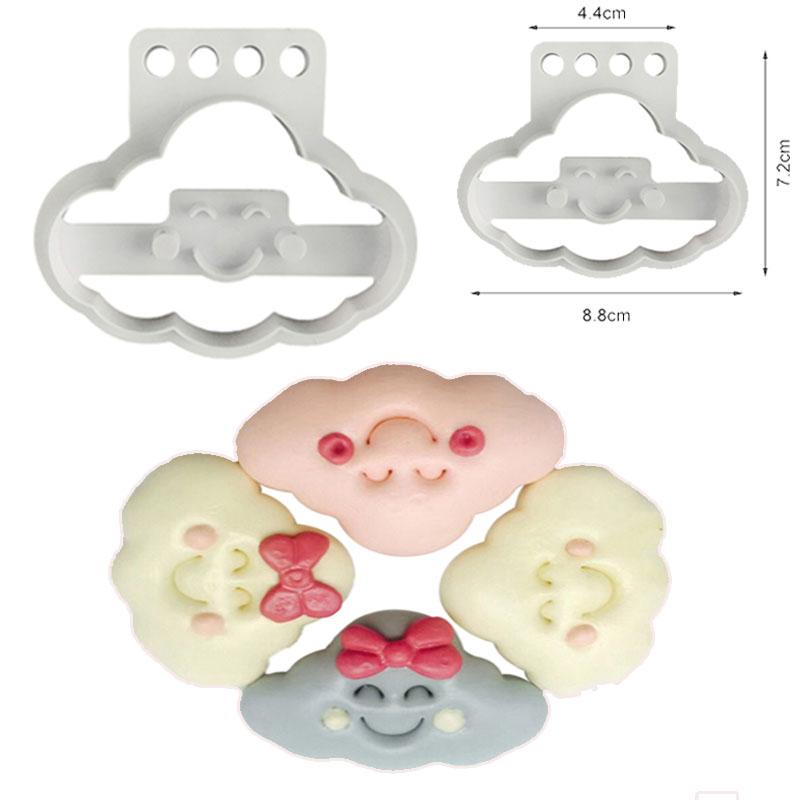 Cortador Molde Plástico de Nubes Esponjosas Con Sonrisa