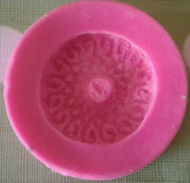 Molde en silicona galleta redonda para botones en porcelanicron