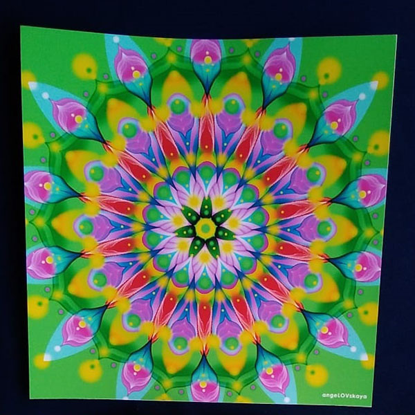 Lámina Adhesivos Mandalas 16cm sticker para manualidades