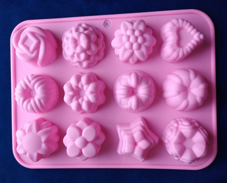 Molde en Silicona figuras surtidas gelatinas para hornear muffin