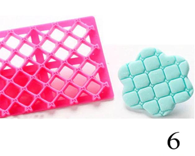 Mode plástico tejido mariposas con rombos acolchado fondant