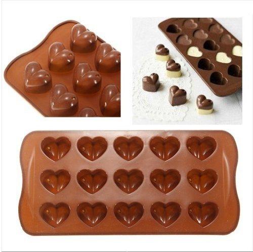 Molde Silicona corazones Corazón 3D Corazones para hocolate post