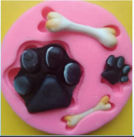 Molde Flexible Inyector Huellas Mascotas y Hueso Pets Animales R