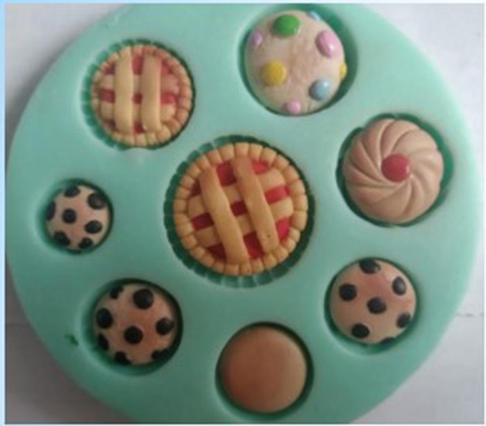 Molde Silicona galletas surtidas minichips waffer crema crea apl