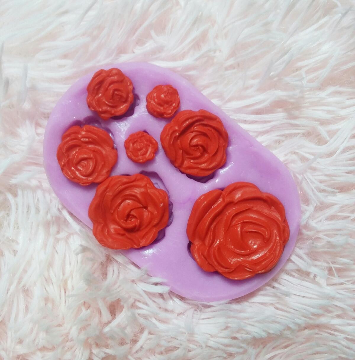 Molde Silicona para fondant Rosas 3D flores decorar tortas y artesa