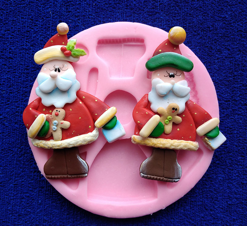 Molde silicona santa Papá Noel con galleta genjibre
