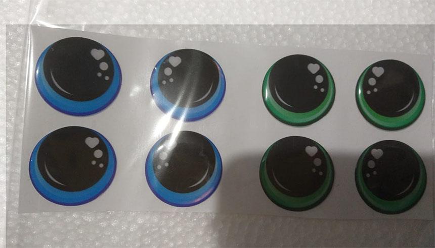 ojos adhesivos para manualidades