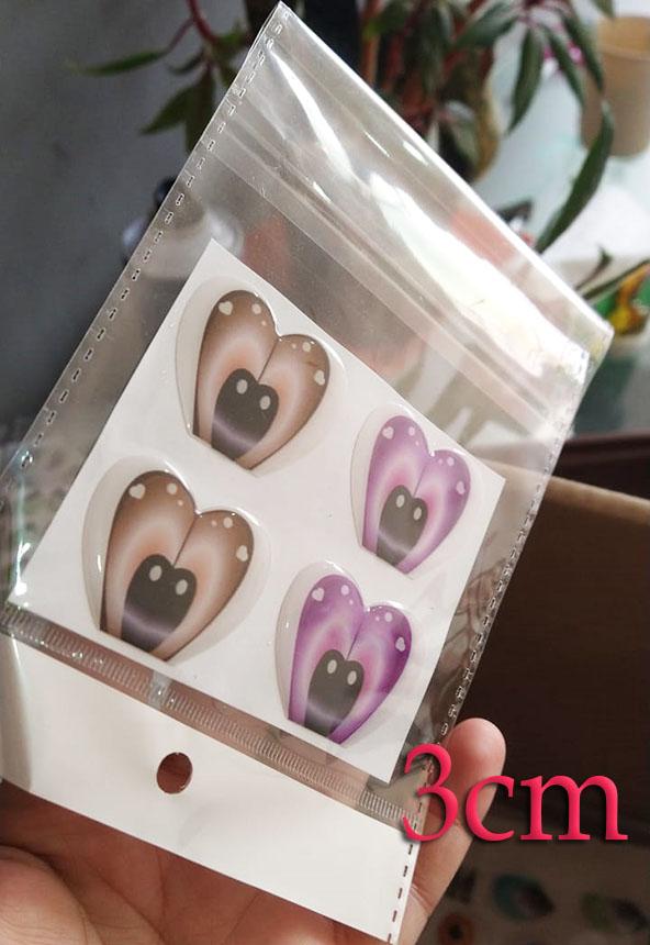 Ojos adhesivos para muñecas de 3cm grandes en peluches tela fomy