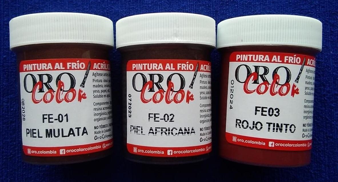 Pinturas Acrílicas Autosellables Piel Mulata FE-01, FE-02 Piel Africana