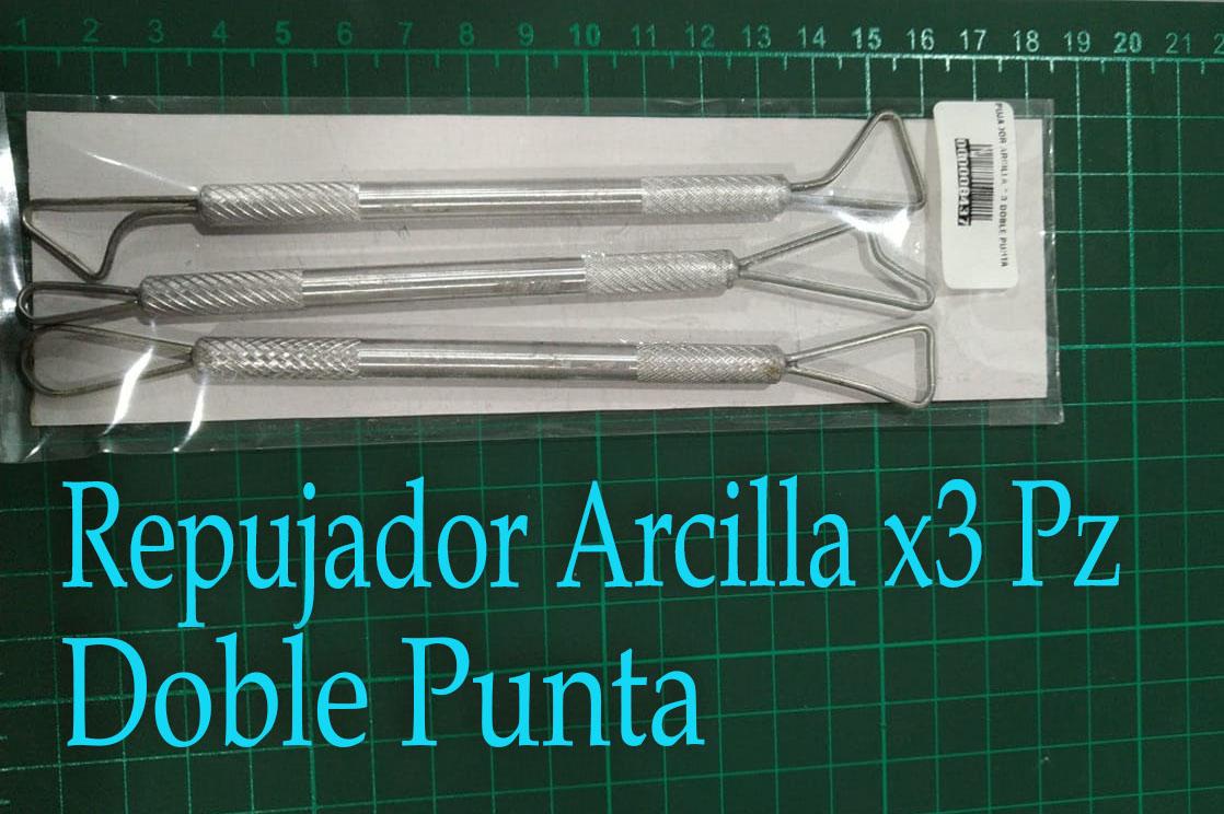 Repujador metálicos por 3Pz para arcilla pasta y moldeable