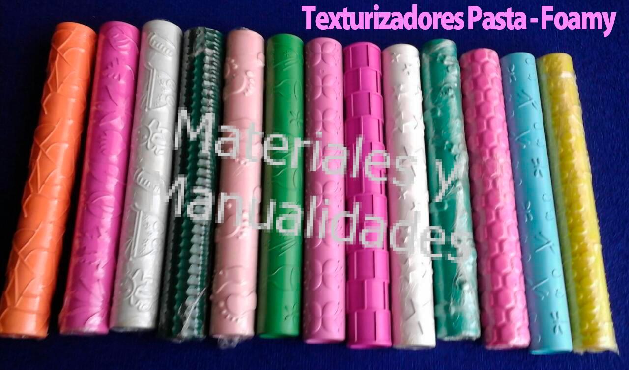 Set Rodillo Surtidos para texturizar foami foamy y pasta flexibl