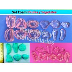 Molde Para Foami Frutas Y Vegetales Crear Souvenirs Fomi Materiales