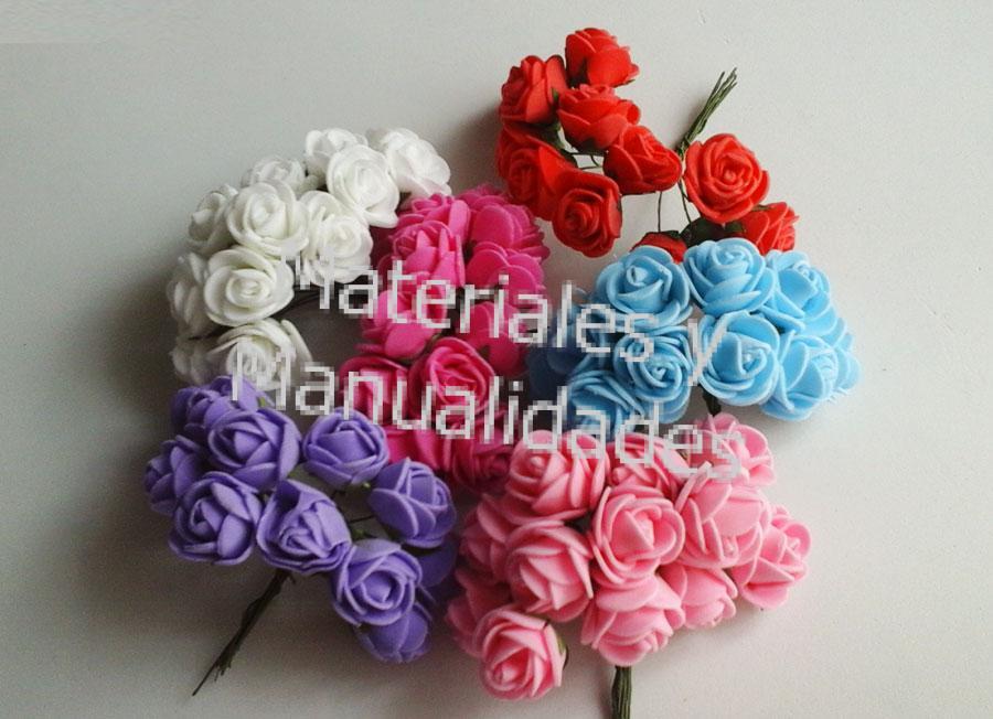 Set ramo de flores en goma eva fomi botón de rosas para decorar
