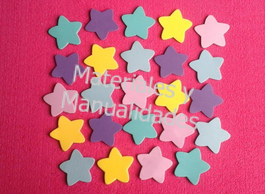 a623702490f Figuras en foamy estrellas en foami plano decora manualidades 1